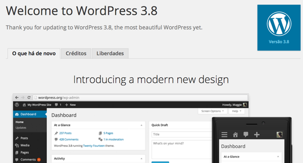 wordpress-3-8-mensagem